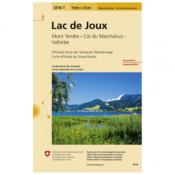 Swisstopo -  3316 T Lac de Joux - Vandringskartor