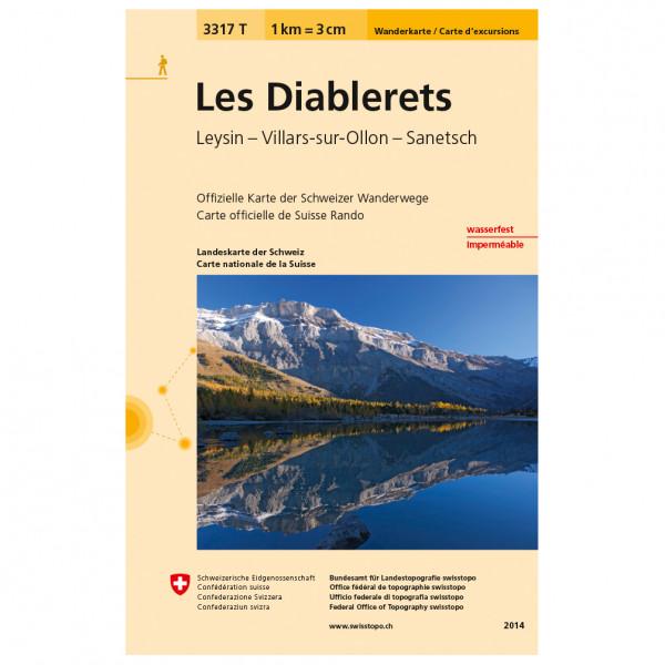 Swisstopo -  3317 T Les Diablerets - Hiking map