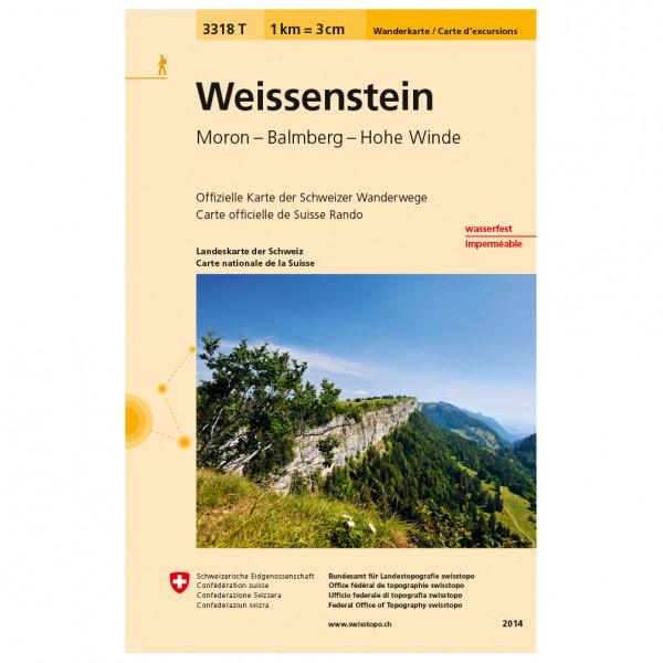 Swisstopo -  3318 T Weissenstein - Vandrekort