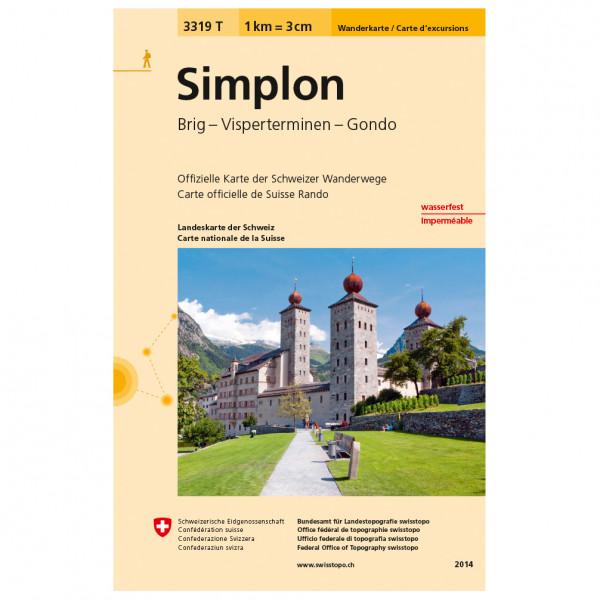 Swisstopo -  3319 T Simplon - Wandelkaart