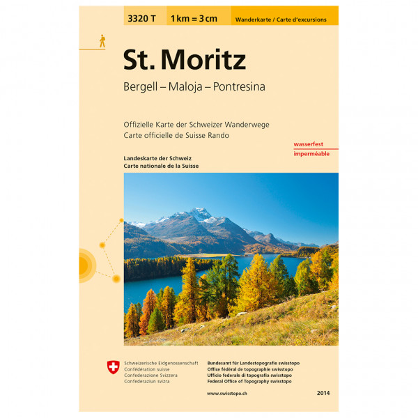 Swisstopo -  3320 T St. Moritz - Vaelluskartat