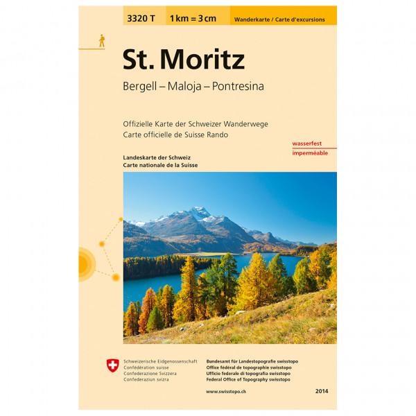 Swisstopo -  3320 T St. Moritz - Wandelkaart