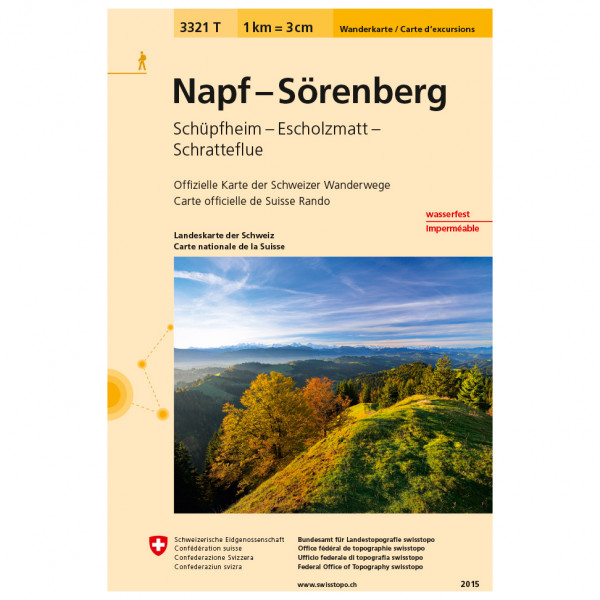 Swisstopo -  3321 T Napf Sörenberg - Hiking map
