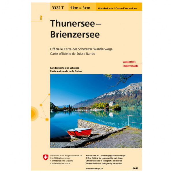 3322 T Thunersee Brienzersee - Hiking map