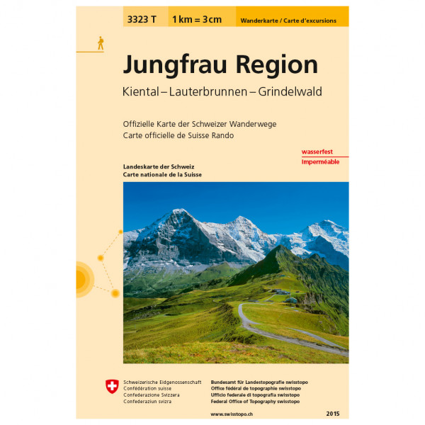 Swisstopo -  3323 T Jungfrau Region - Hiking map