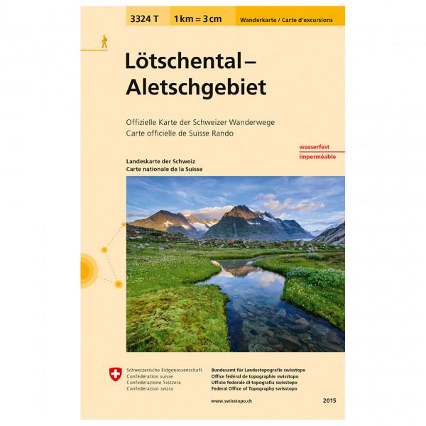Swisstopo - 3324 T Lötschental Aletschgebiet - Vandrekort