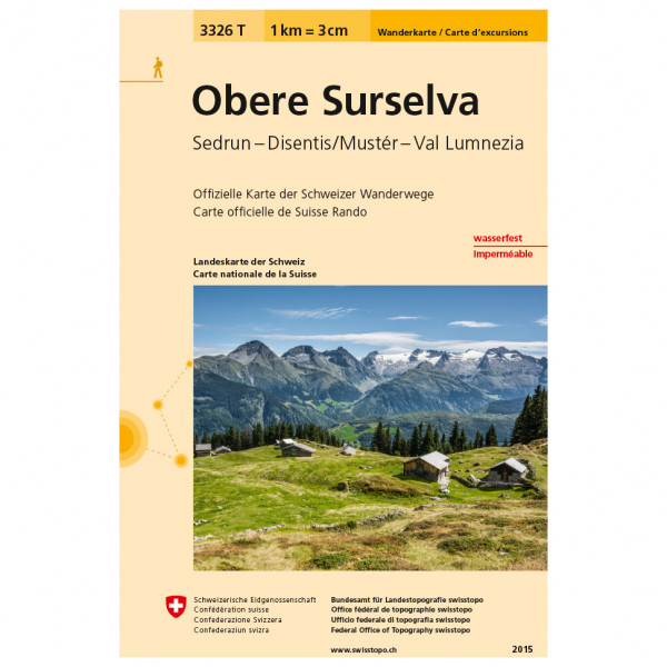 Swisstopo -  3326 T Obere Surselva - Vaelluskartat