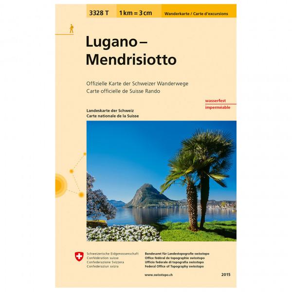 Swisstopo - 3328 T Lugano Mendrisiotto - Vandrekort