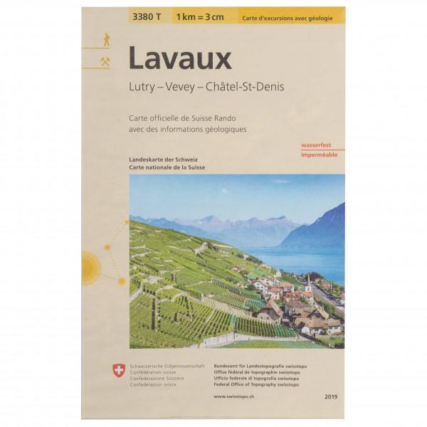 Swisstopo -  3380T Lavaux - Hiking map