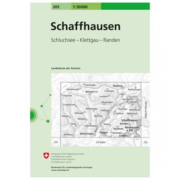 Swisstopo -  205 Schaffhausen - Hiking map