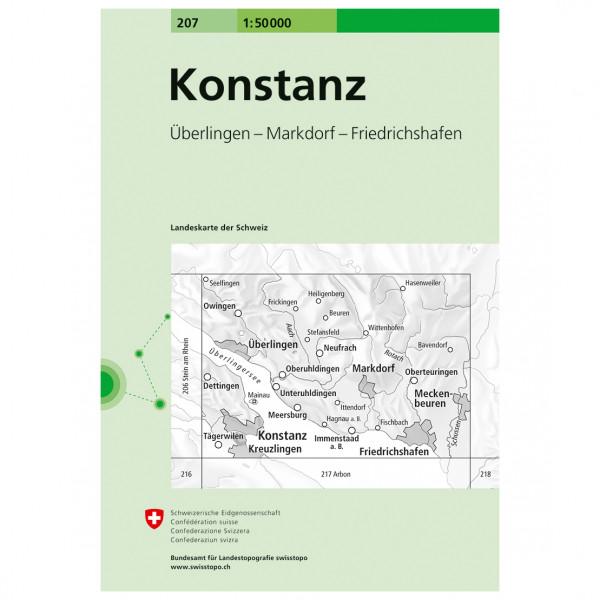 Swisstopo -  207 Konstanz - Vandringskartor