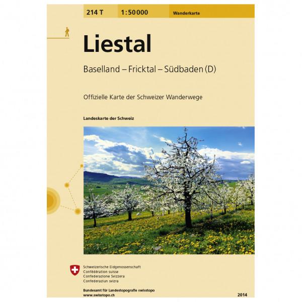 Swisstopo -  214 T Liestal - Vandrekort