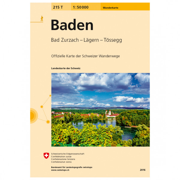 Swisstopo -  215 T Baden - Hiking map