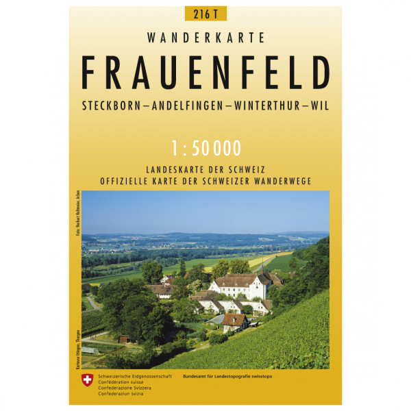 Swisstopo - 216 T Frauenfeld - Vaelluskartat