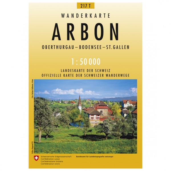 Swisstopo -  217 T Arbon - Vandrekort