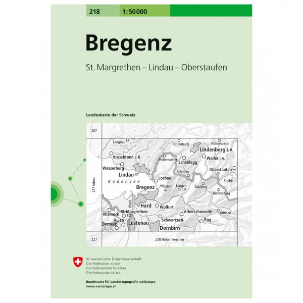 Swisstopo -  218 Bregenz - Wandelkaarten