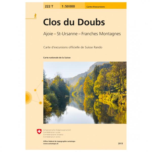 Swisstopo - 222T Clos du Doubs - Vandrekort