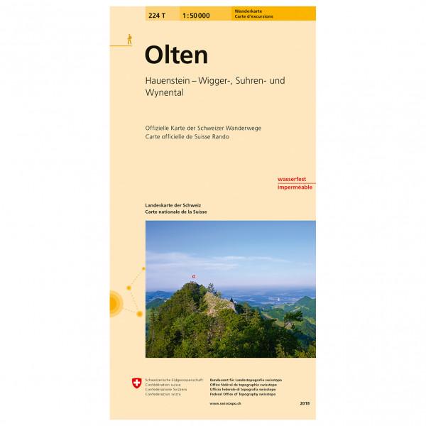 Swisstopo -  224 T Olten - Vandringskartor