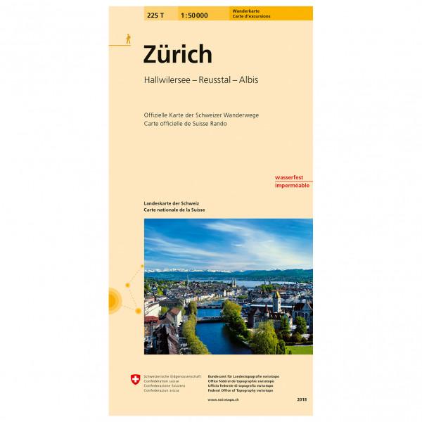 Swisstopo -  225 T Zürich - Vaelluskartat