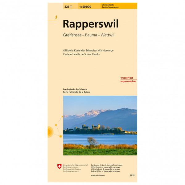Swisstopo -  226 T Rapperswil - Hiking map