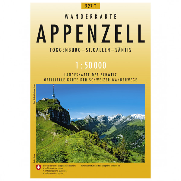 Swisstopo -  227 T Appenzell - Vaelluskartat