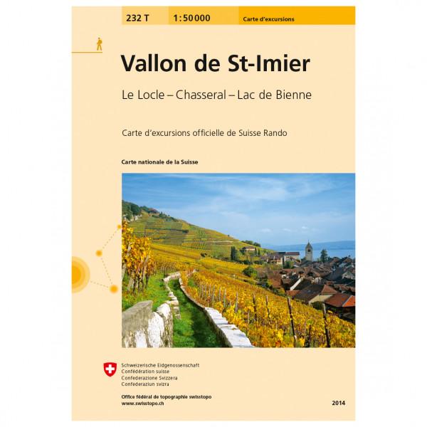 Swisstopo - 232T Vallon de St-Imier - Vandrekort