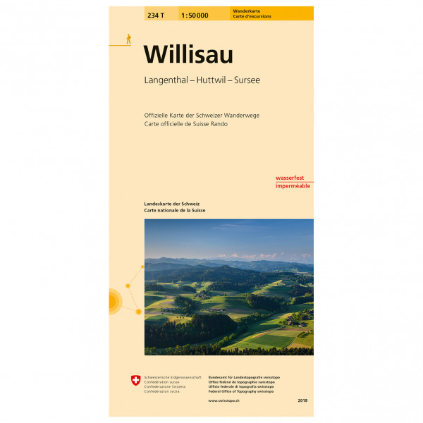 Swisstopo - 234 T Willisau - Hiking map