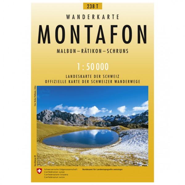 Swisstopo -  238 T Montafon - Vandrekort