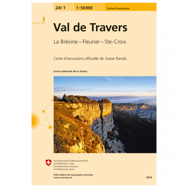 Swisstopo - 241 T Val de Travers - Vandrekort