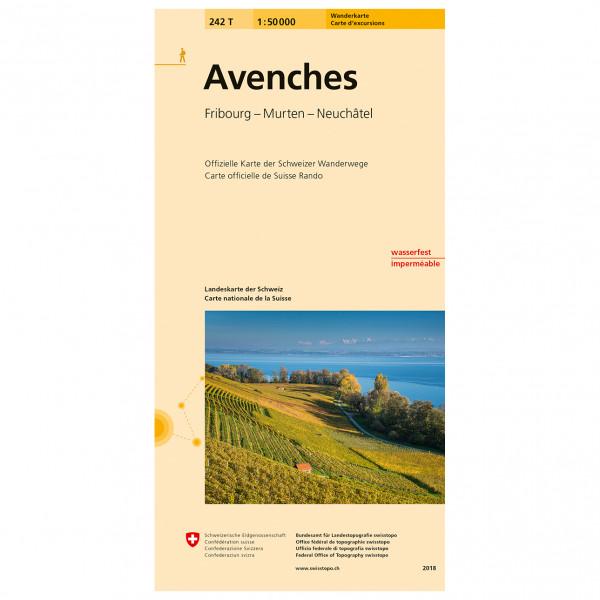 Swisstopo -  242 T Avenches - Vaelluskartat