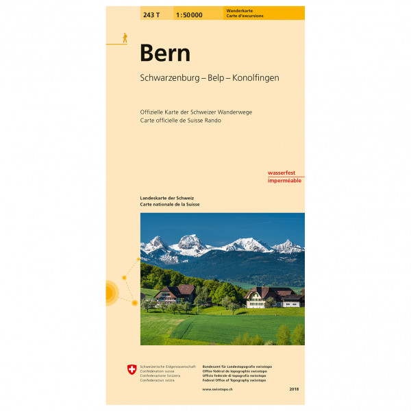 Swisstopo -  243 T Bern - Hiking map