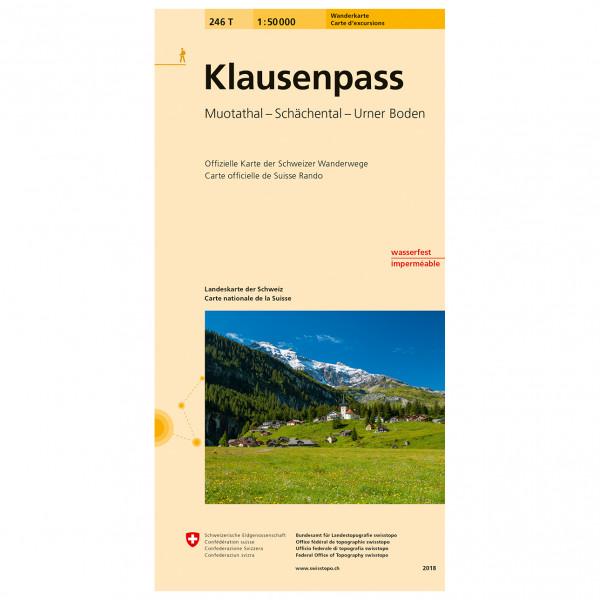 Swisstopo -  246 T Klausenpass - Wandelkaart