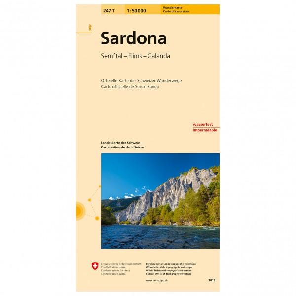 Swisstopo -  247 T Sardona - Vandringskartor