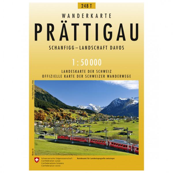 Swisstopo - 248 T Prättigau - Wanderkarte