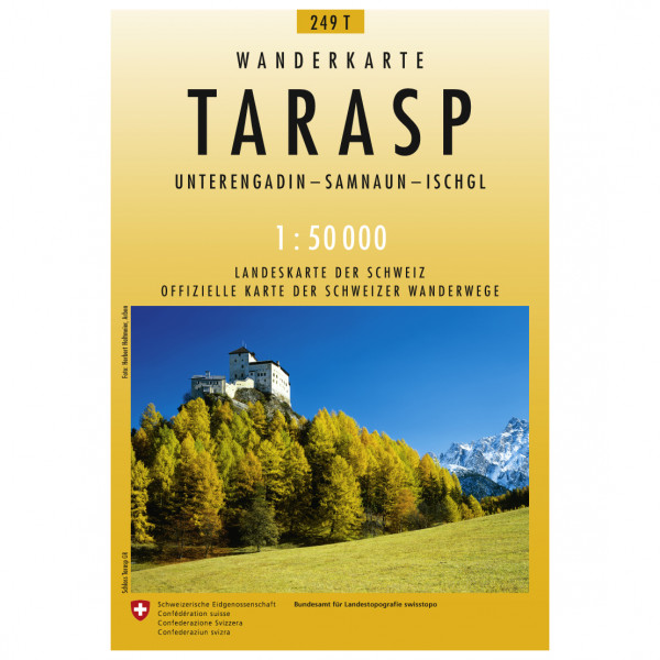Swisstopo -  249 T Tarasp - Vaelluskartat