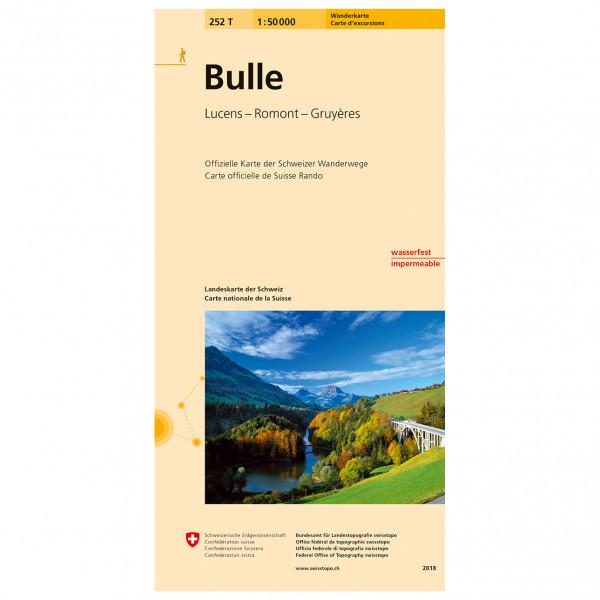 Swisstopo -  252 T Bulle - Vaelluskartat