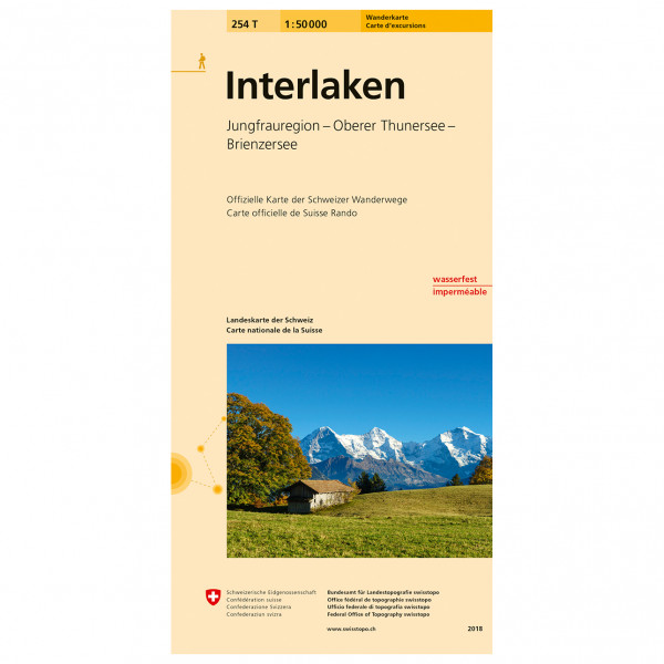 Swisstopo -  254 T Interlaken - Hiking map