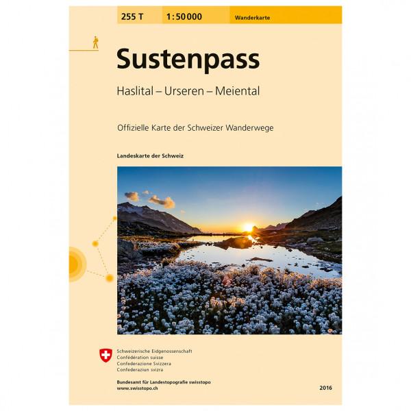 Swisstopo -  255 T Sustenpass - Wandelkaarten