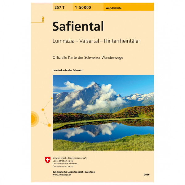 Swisstopo -  257 T Safiental - Hiking map