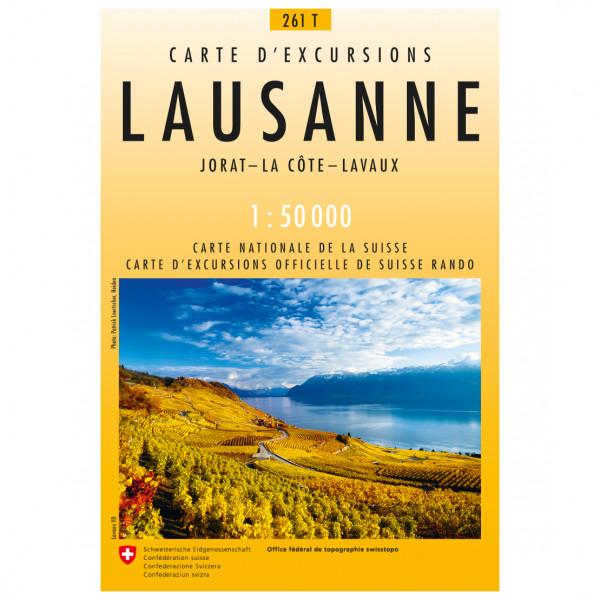 Swisstopo -  261 T Lausanne - Hiking map