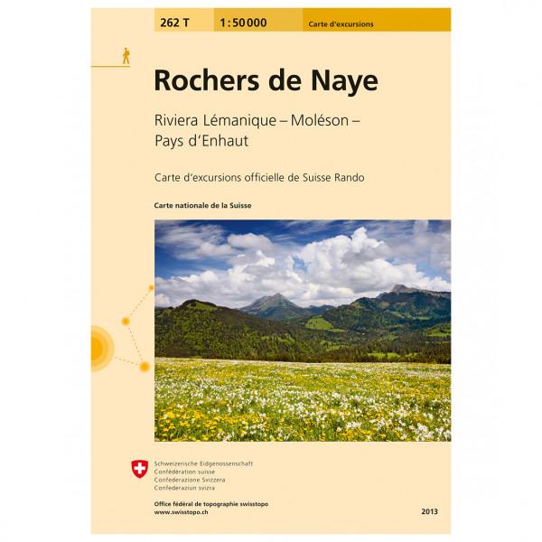 Swisstopo - 262 T Rochers de Naye - Vandrekort