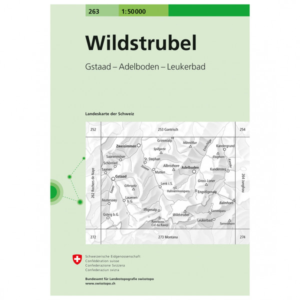 Swisstopo -  263 T Wildstrubel - Hiking map