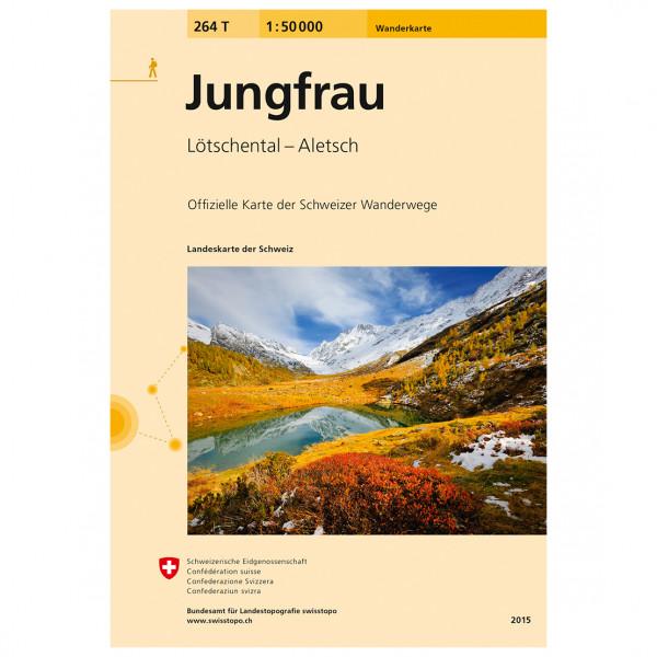 Swisstopo -  264 T Jungfrau - Vaelluskartat