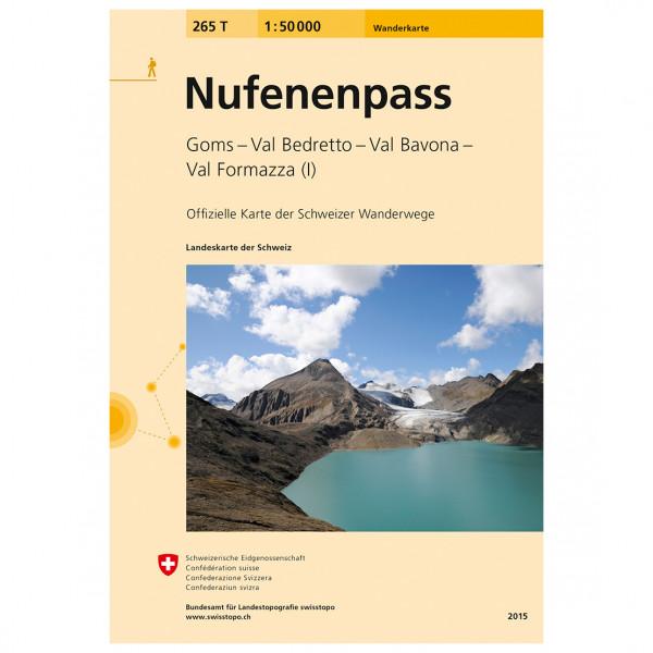 Swisstopo -  265 T Nufenenpass - Vaelluskartat