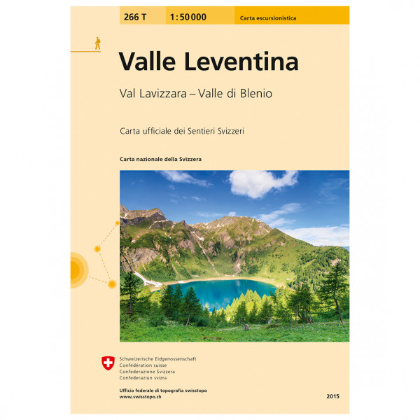 Swisstopo - 266T Valle Leventina - Vandrekort