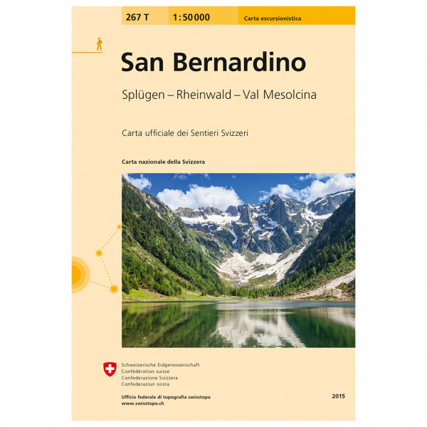 Swisstopo - 267T San Bernardino - Hiking map