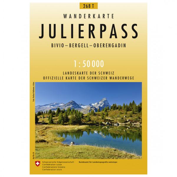 Swisstopo -  268 T Julierpass - Wandelkaarten
