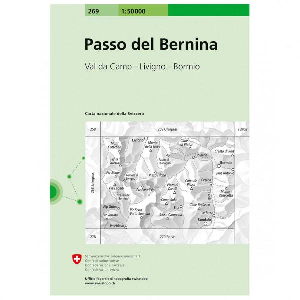 Swisstopo - 269 Passo del Bernina - Vandringskartor