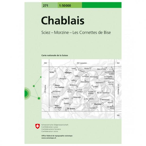 Swisstopo -  271 Chablais - Wandelkaarten