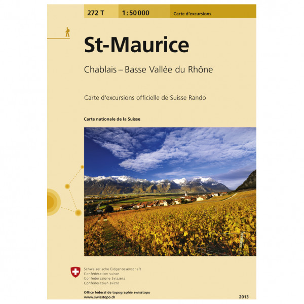 Swisstopo -  272 T St-Maurice - Hiking map